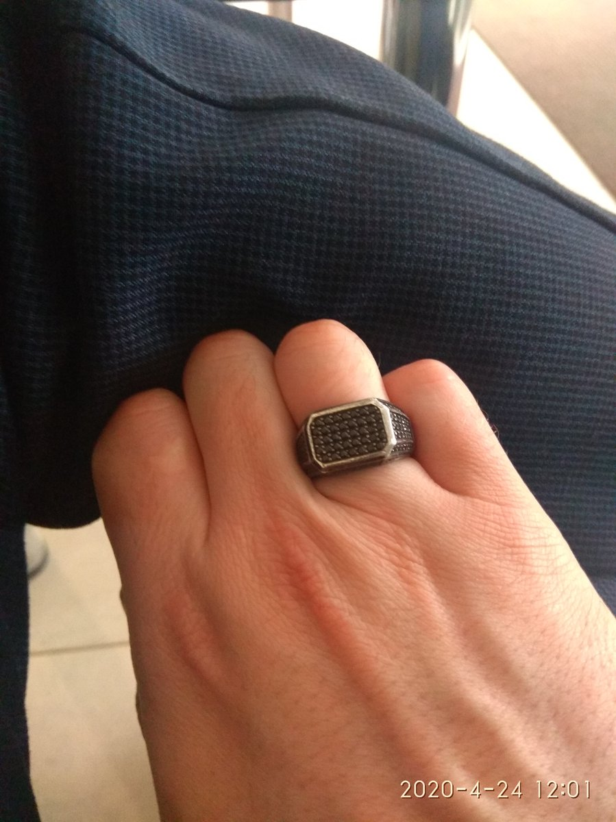 Кольцо из серебра с чернением