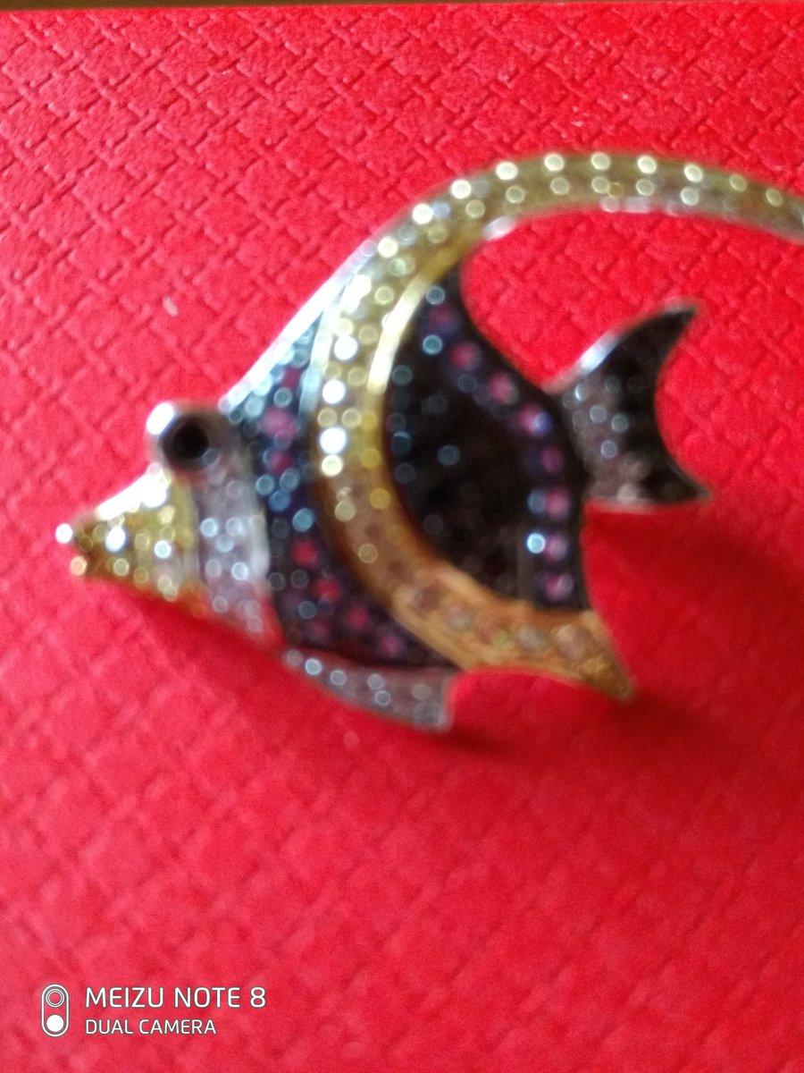Красивая брошь в виде рыбки.