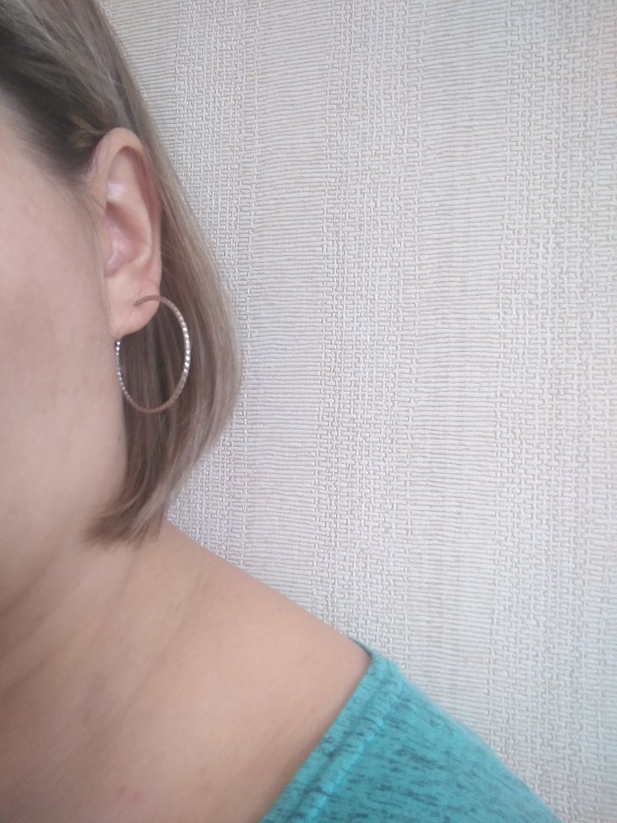 Серьги-кольца серебро