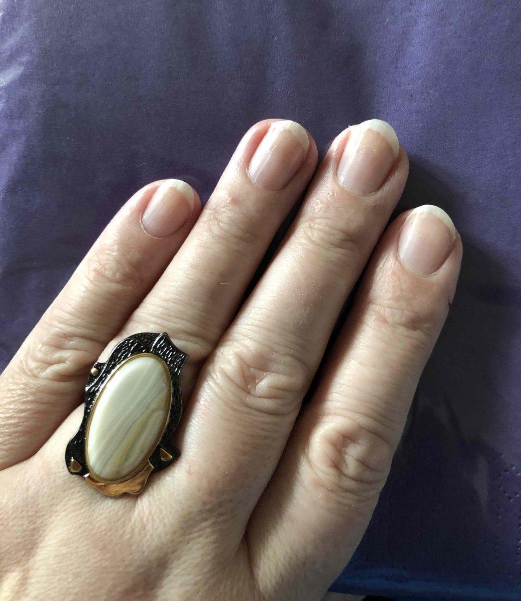 Прекрасное кольцо с агатом