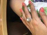 Чудесное кольцо с фианитами и имитацией жемчуга