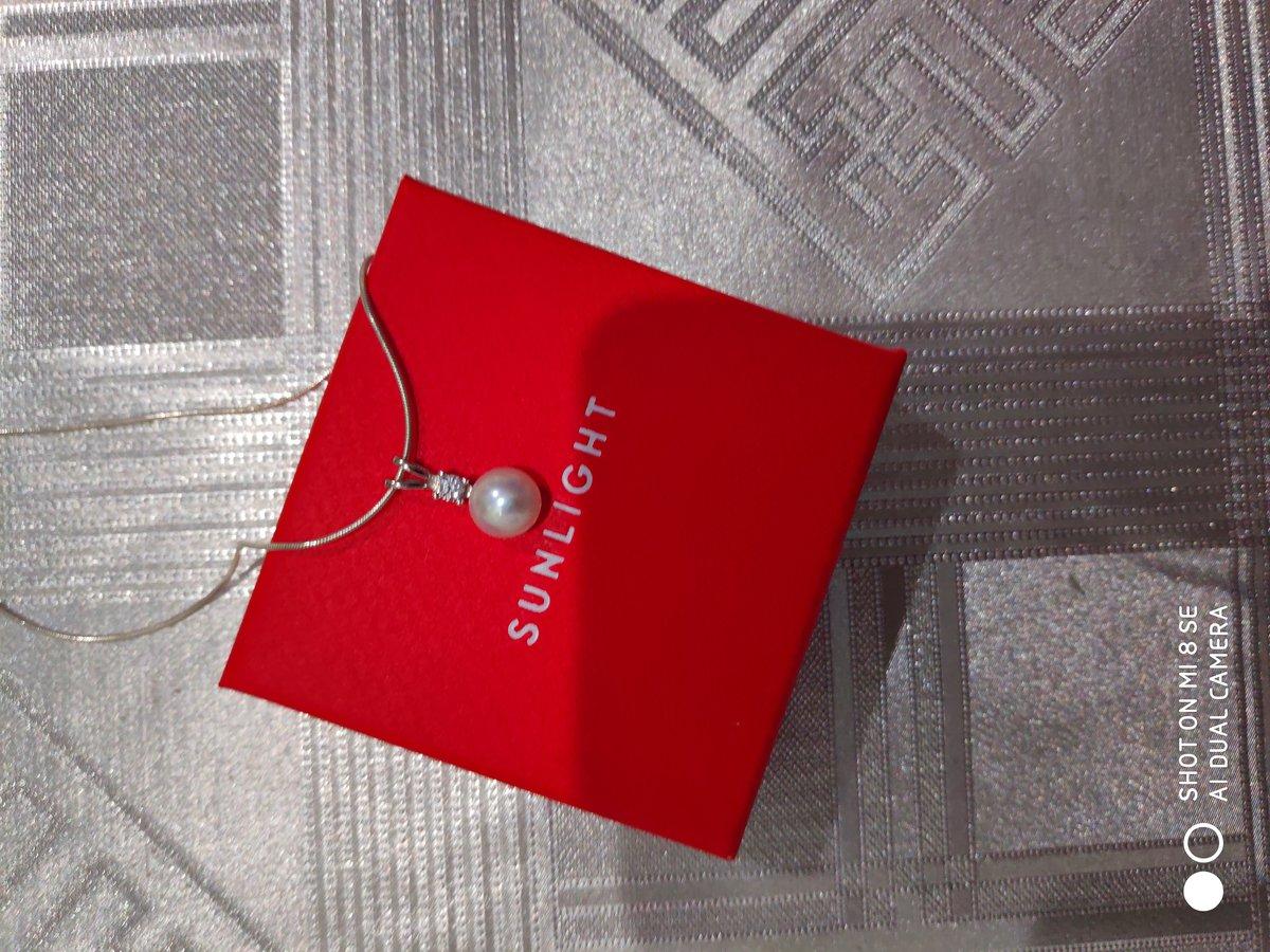 Серебряная подвеска с жемчугом и фианитом