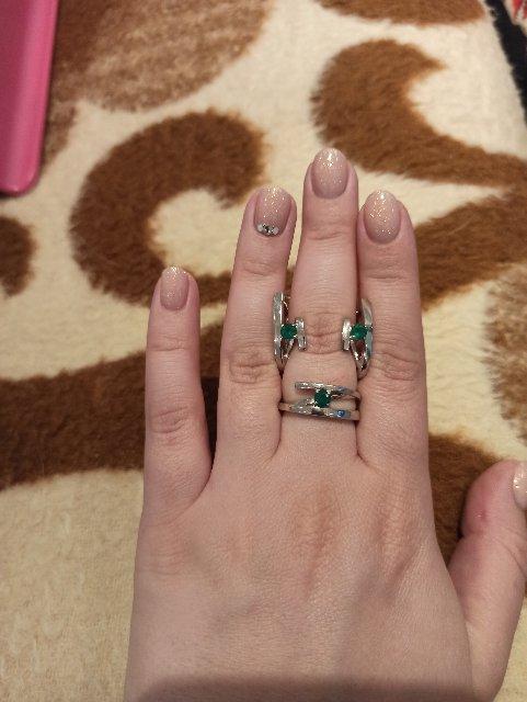 Красивое кольцо с агатом