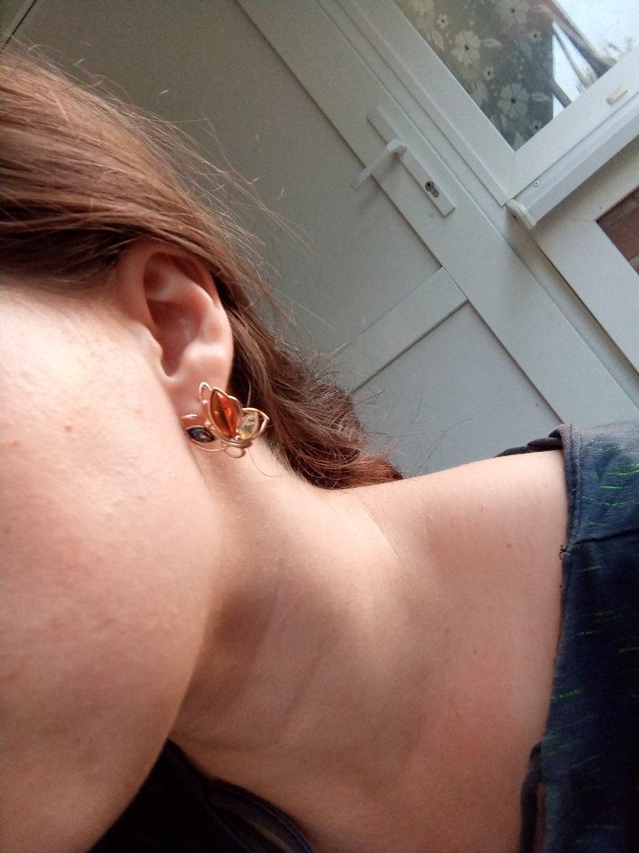Серьги бабочки