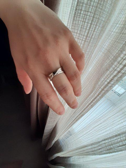 Стильное кольцо из серебро