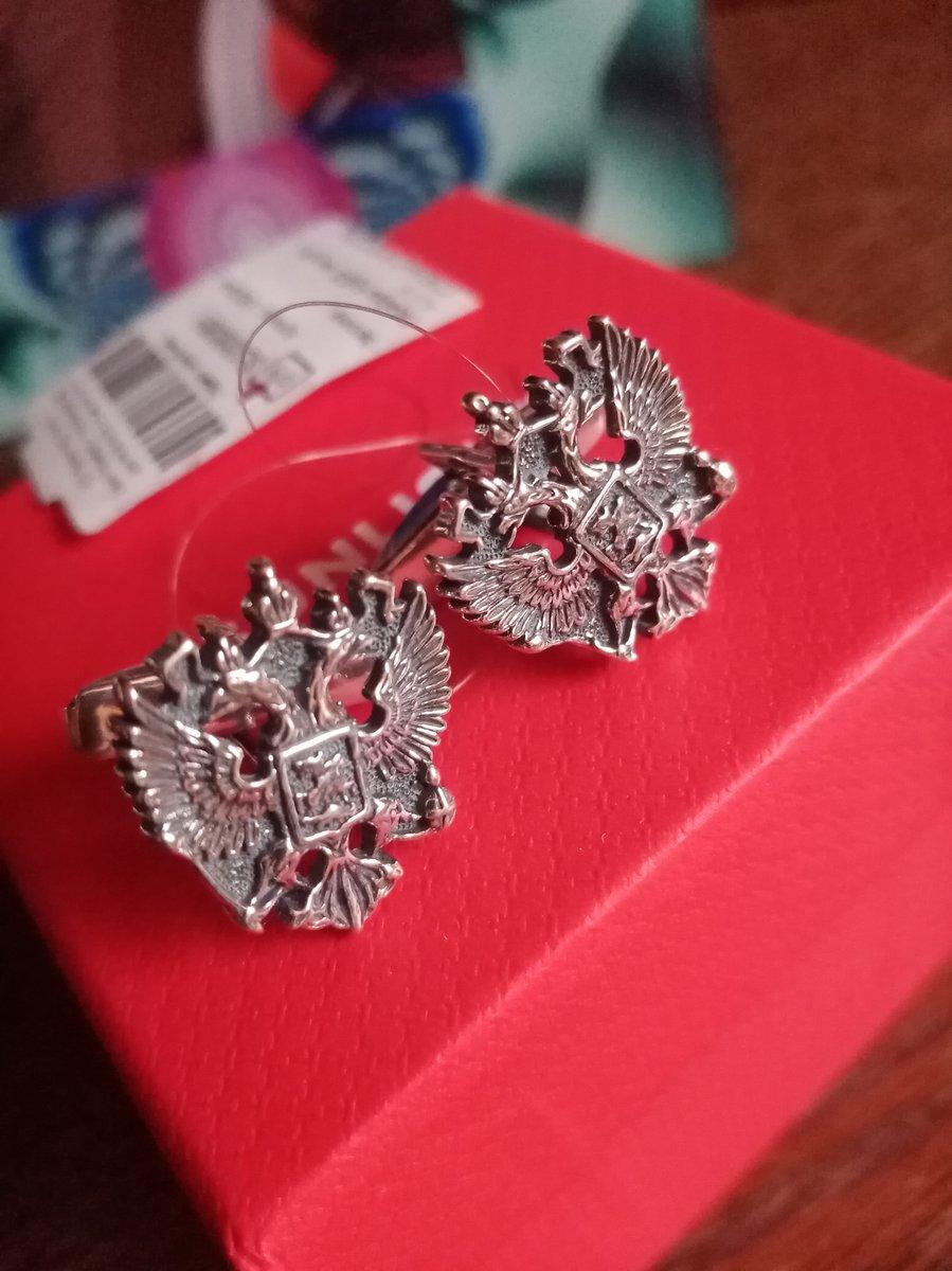Запонки серебряные