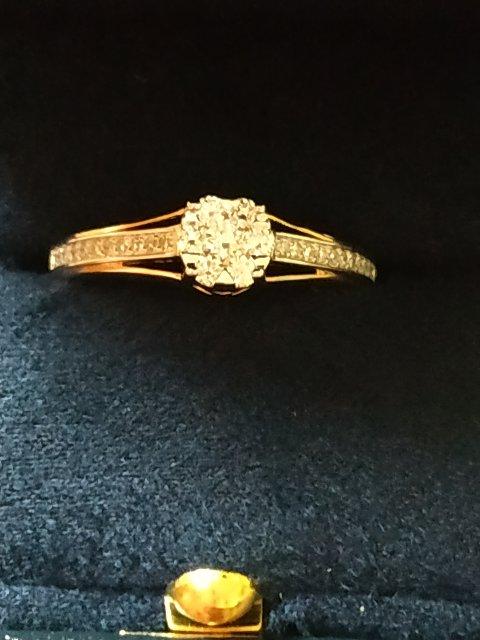 Кольцо с бриллиантом Якутии.