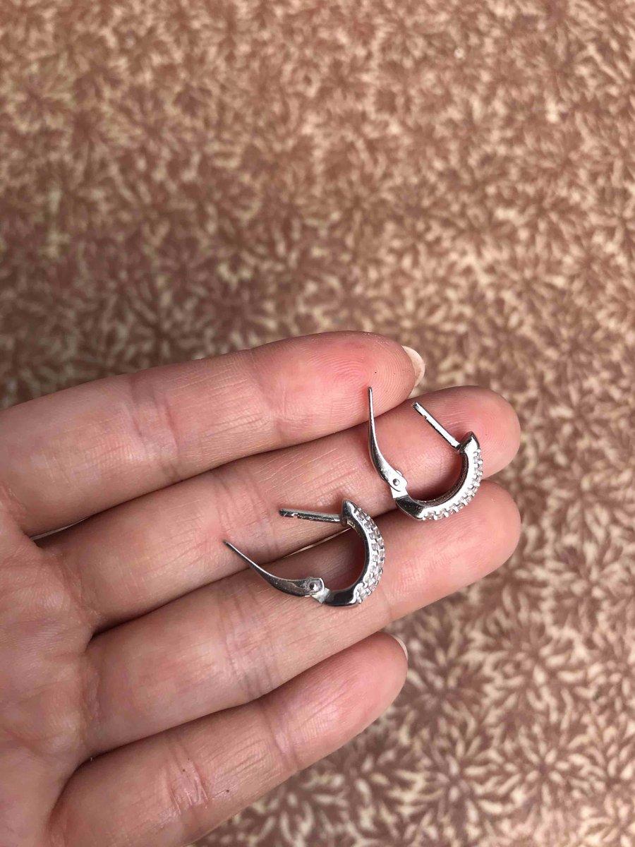 Серебряные серьги с фианитами