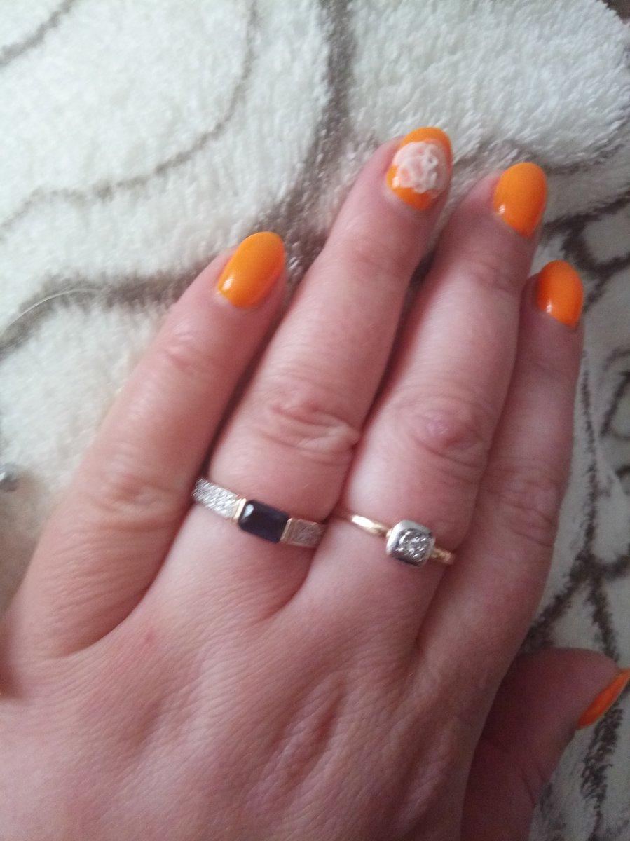 Кольцо с корундом и бриллиантами