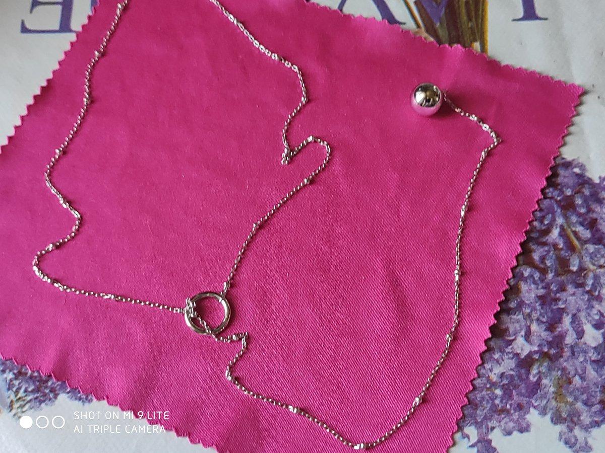 Серебряное украшение на шею