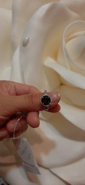 Серебряное кольцо с раухтопазами и фианитами!