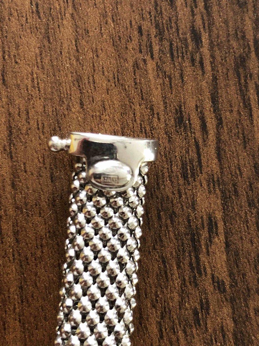 Браслет из итальянского серебра.