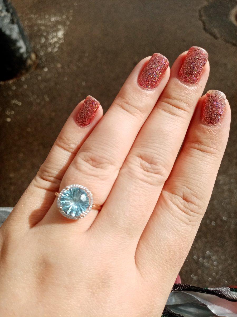 Кольцо с топазом и брилиантами