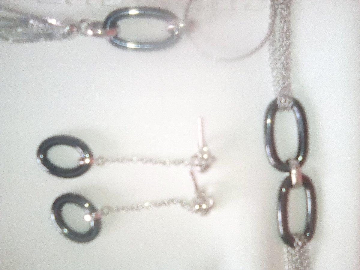 Серебряная подвеска с керамикой