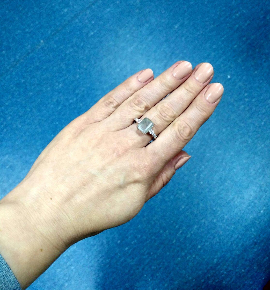 Кольцо с кварцем.