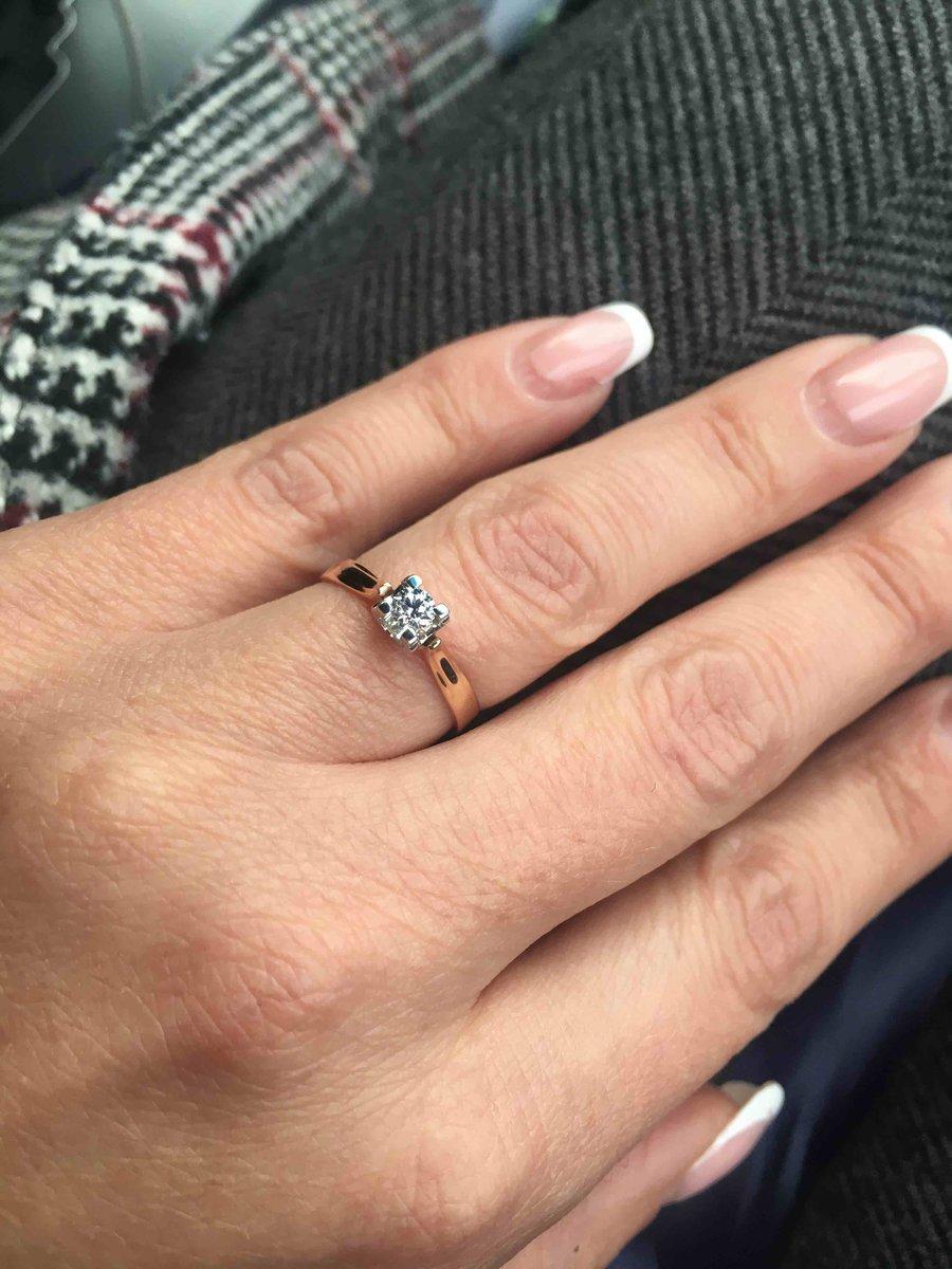 Идеальное кольцо с бриллиантом