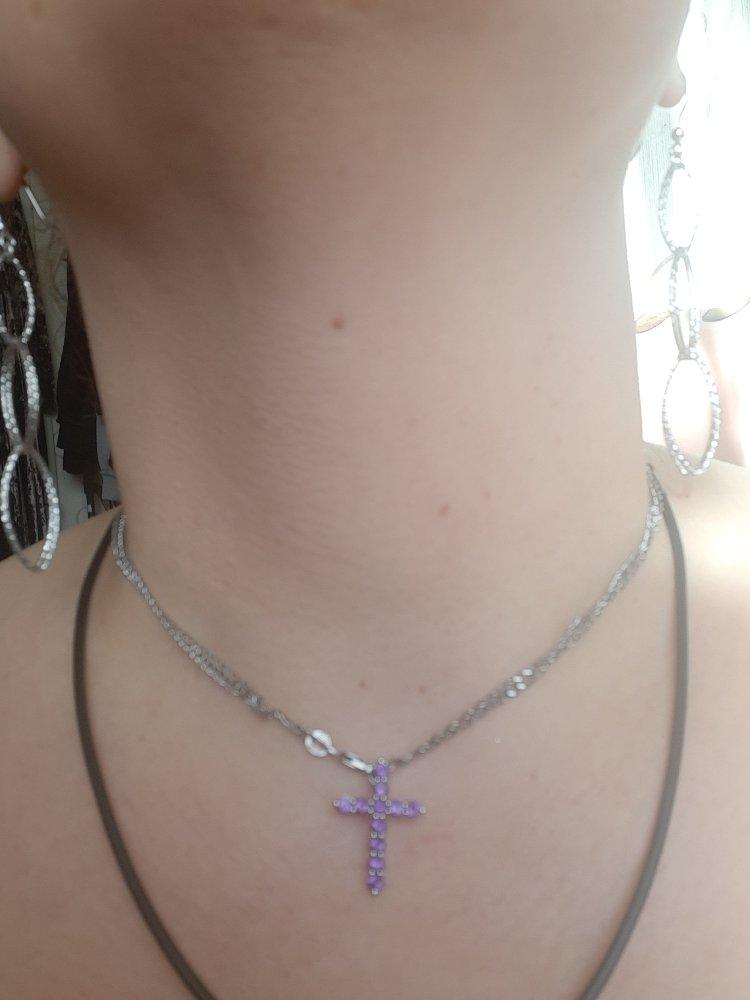 Аметисовый крестик - моя прелесть )))) 🥰🥰🥰