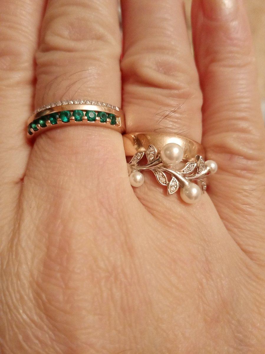 Кольцо изумрудное с брилиантами