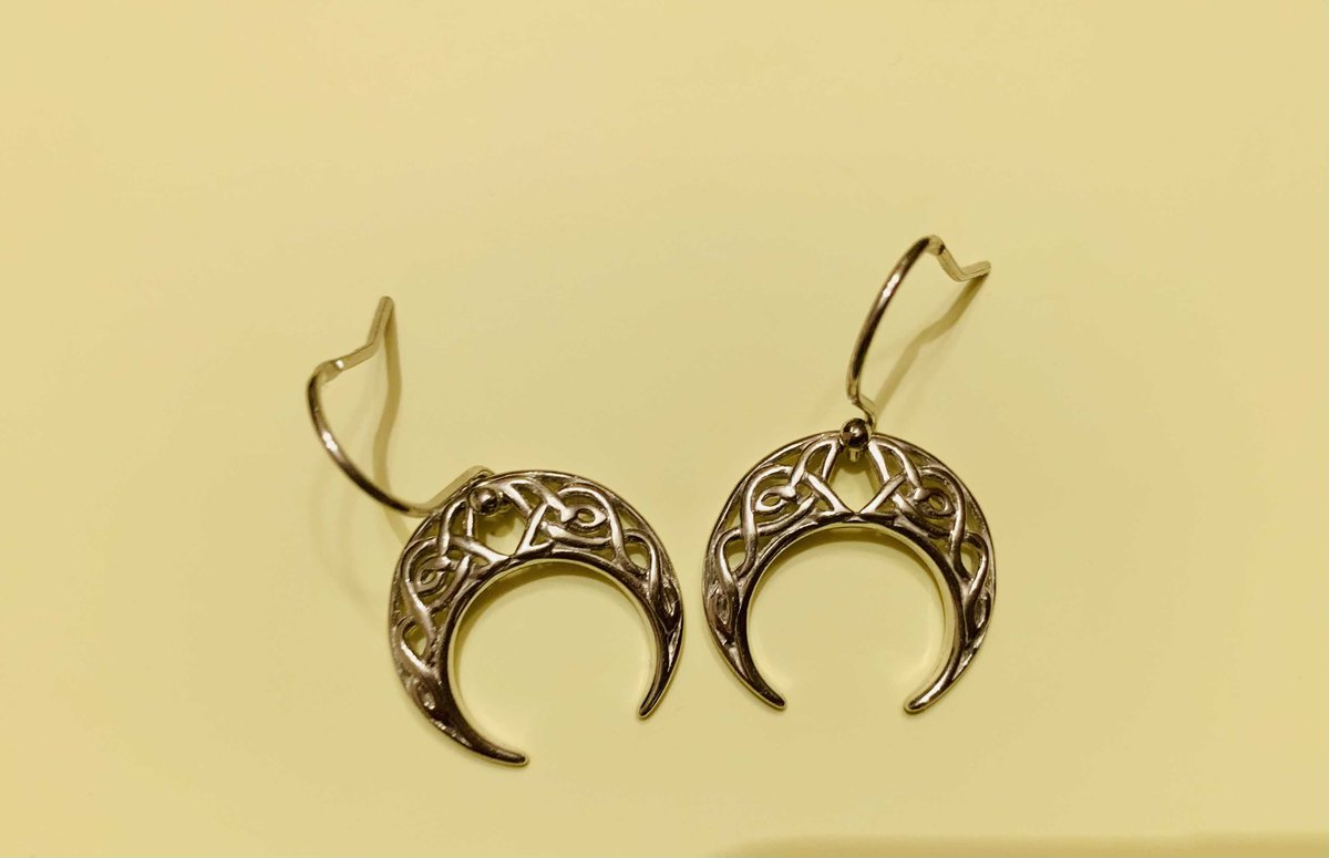 Серебрянные серьги-лунницы