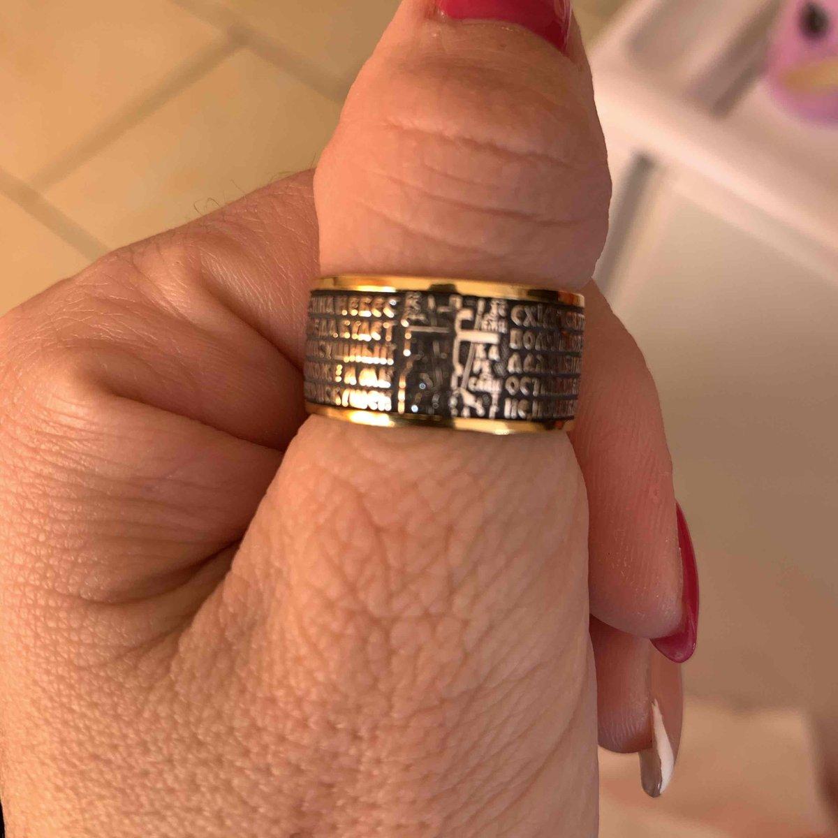 Кольцо позолоченное, серебрянное