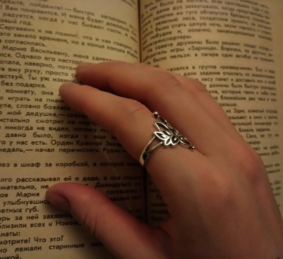 Серебряное кольцо 925 лотос