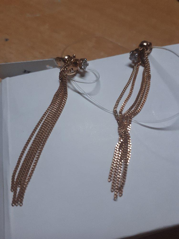 Серьги цепочки,гвоздики
