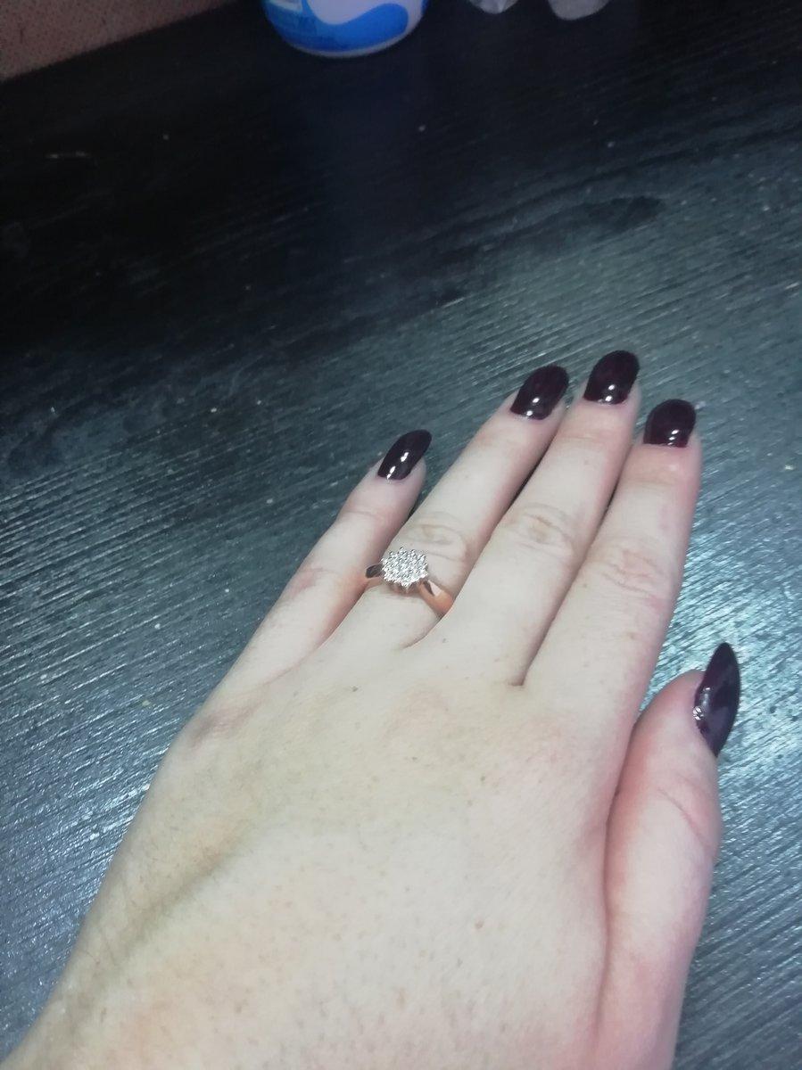 Мое первое кольцо 💍 с бриллиантами 💎