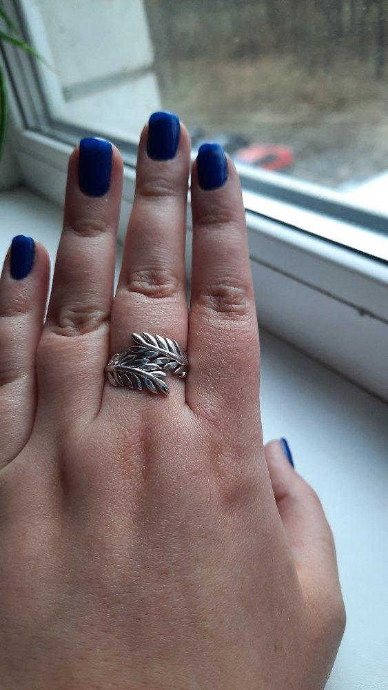 Кольцо с листочками