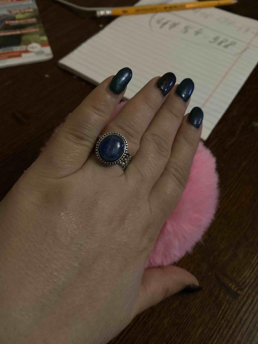 Кольцо с кеанитом
