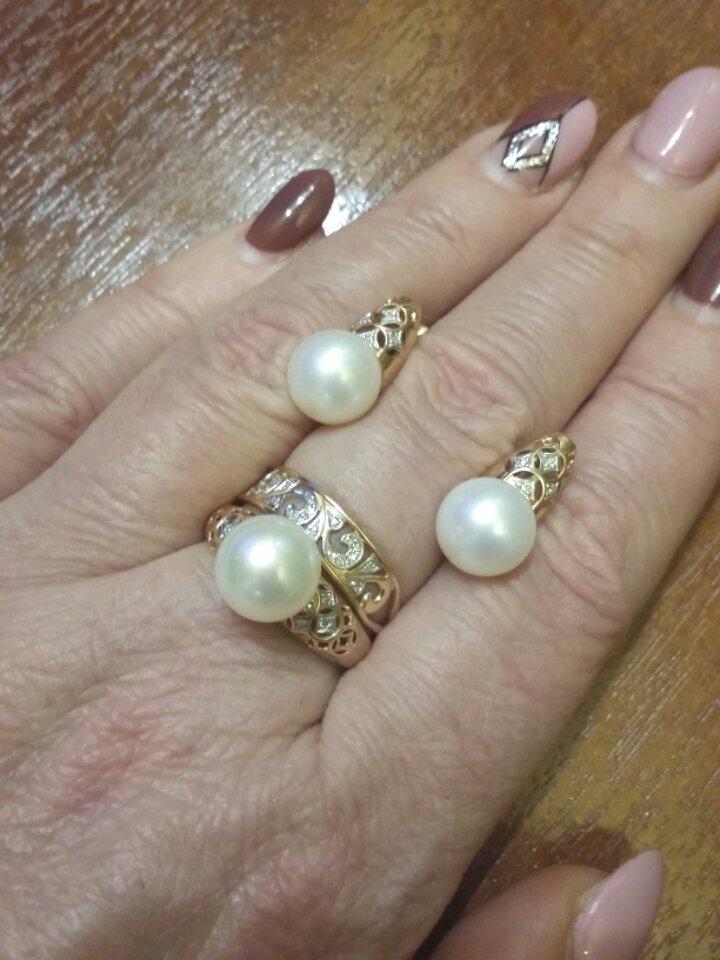 Фантастической красоты серьги с жемчугом и бриллиантами