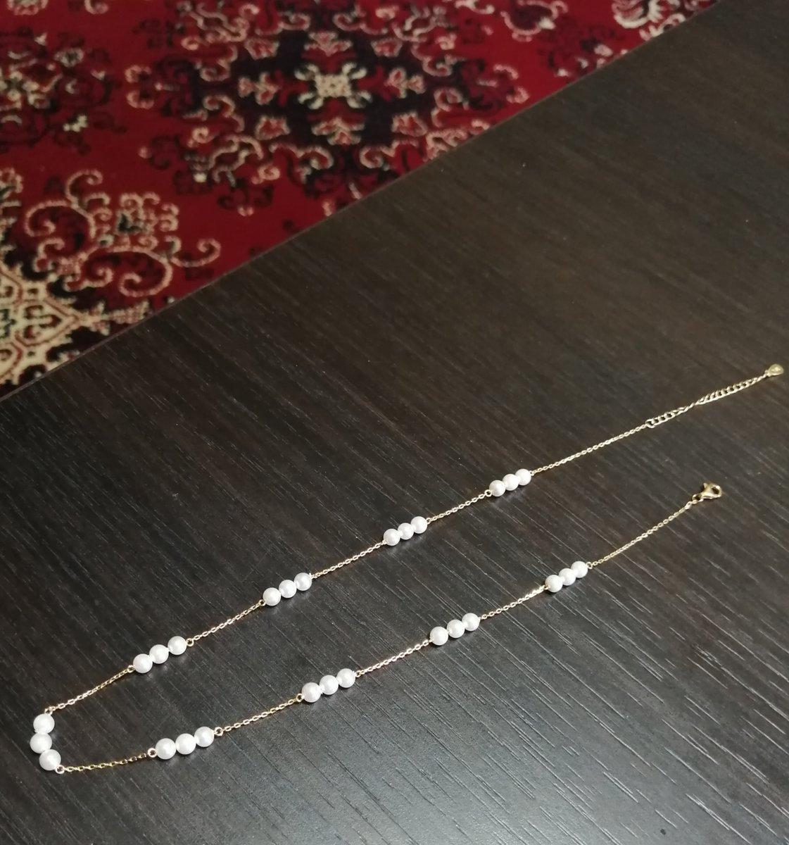 Шейное украшение с жемчужинками-имитациями