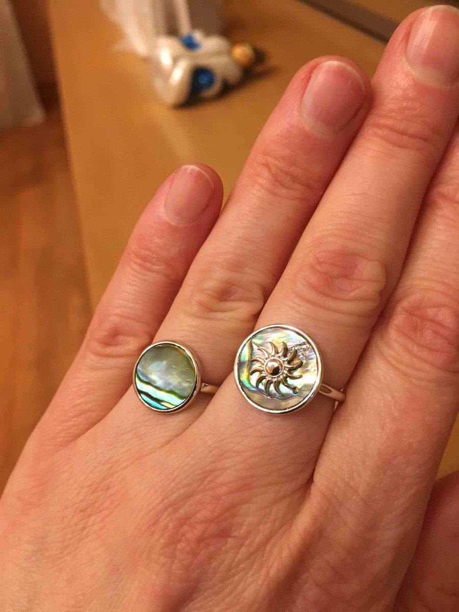 Кольцо с халиотисом