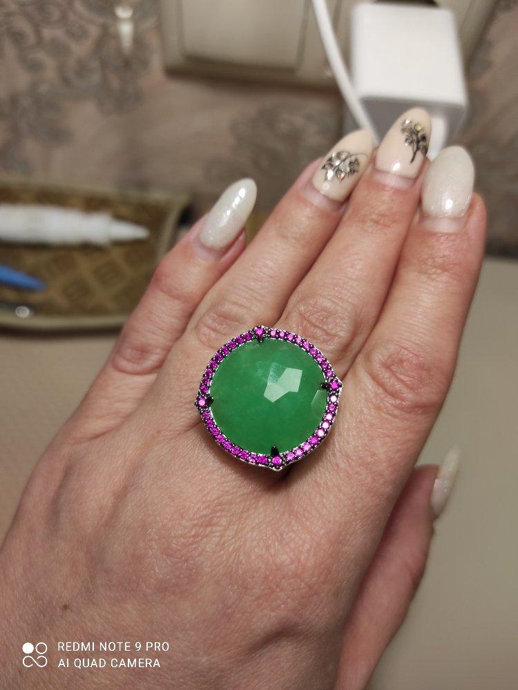 Кольцо серебряное с хризопразом