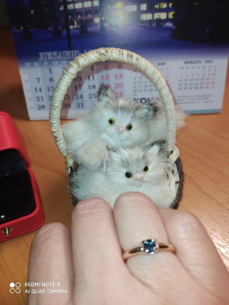 Кольцо с сапфиром