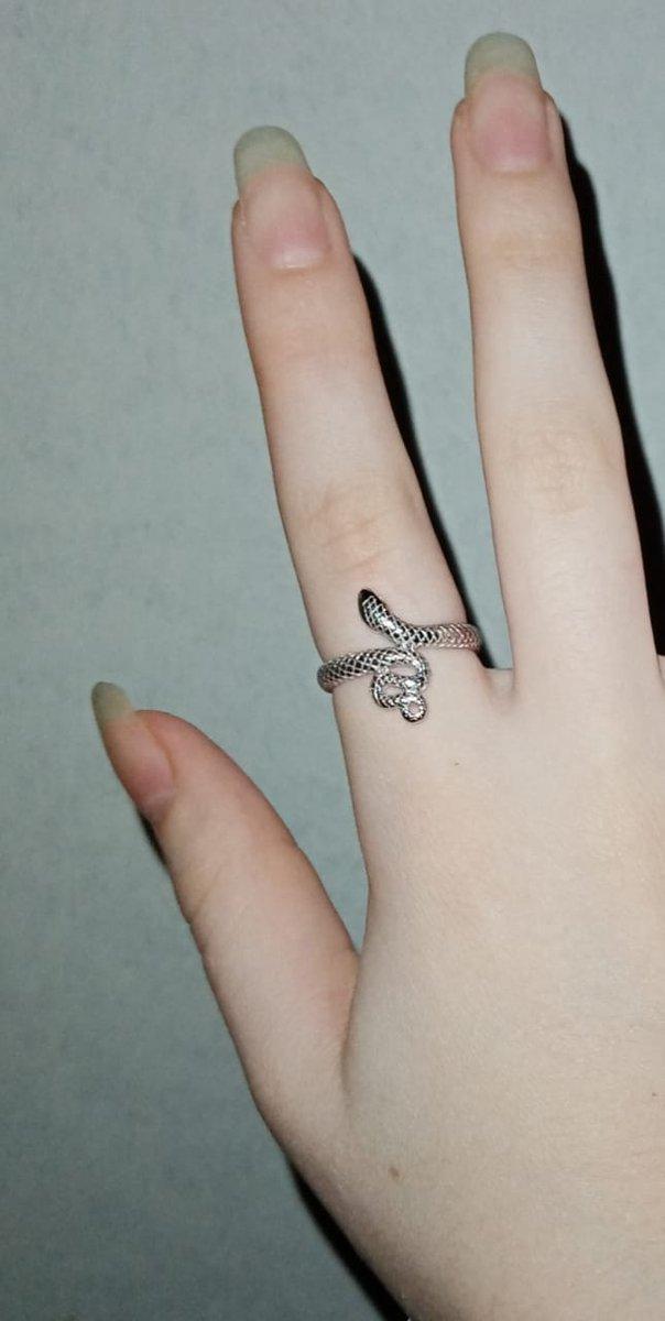 Кольцо змейка