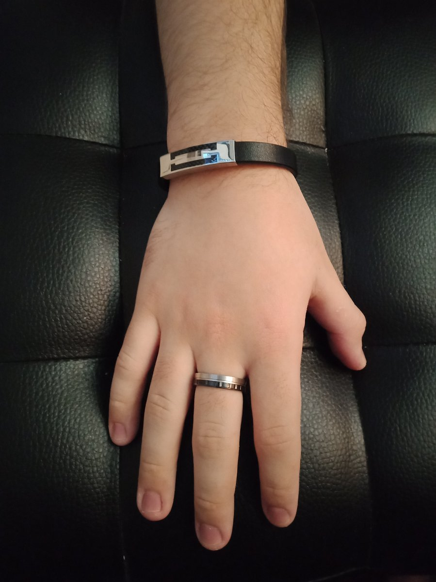 Кольцо сталь+ керамика