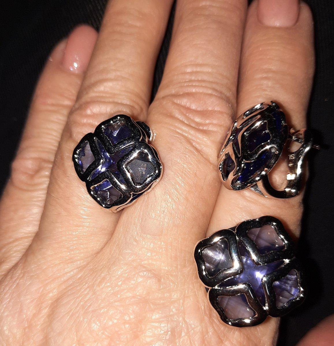 Необычное серебряное кольцо .