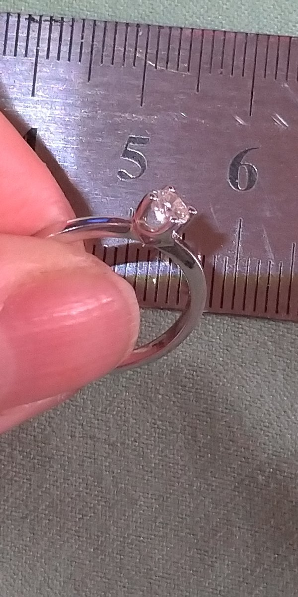 Кольцо с бриллиантом из якутии.