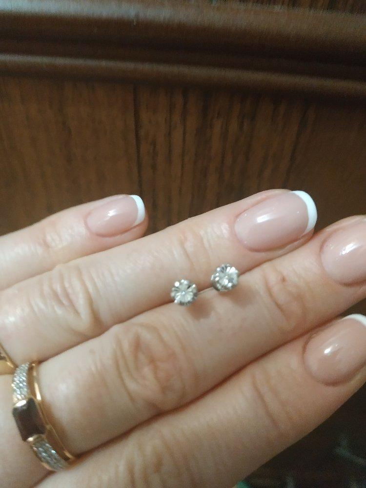 Серебряные серьги с бриллиантами