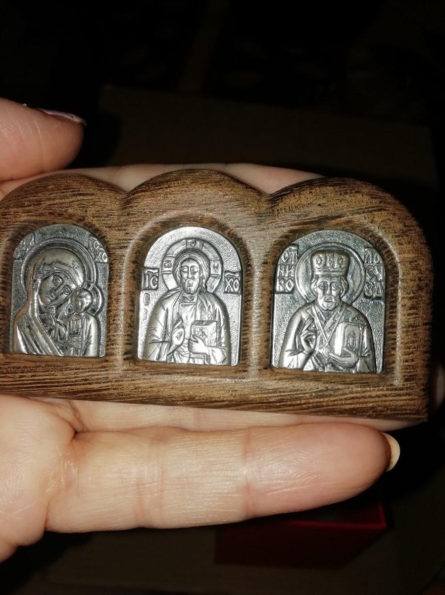Триптих с серебряными ликами