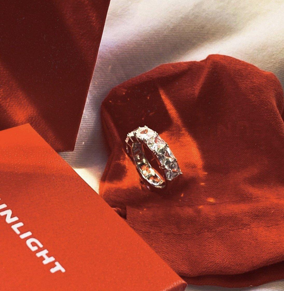 Шикарное кольцо-дорожка