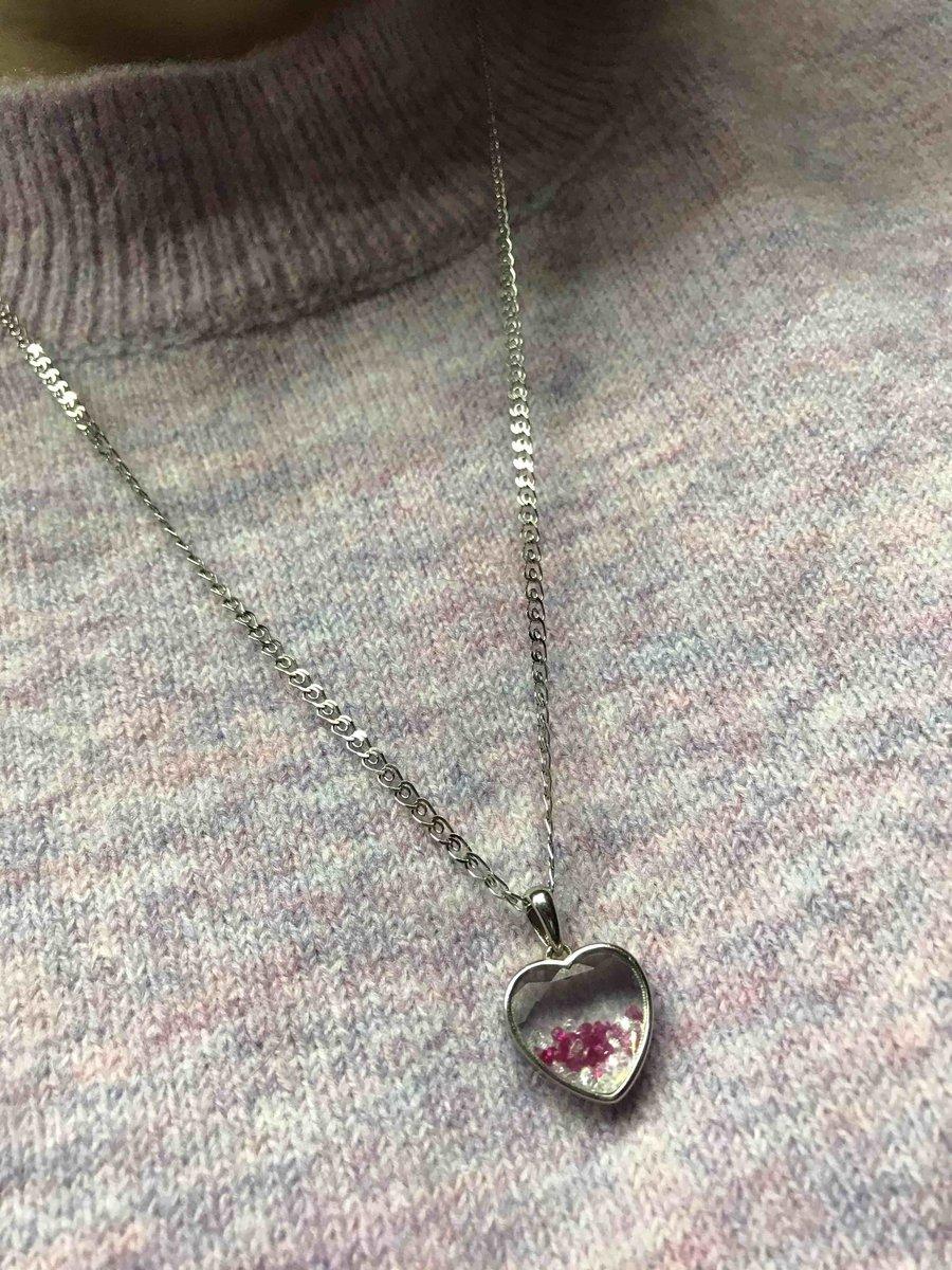 Кулон сердце с камушками