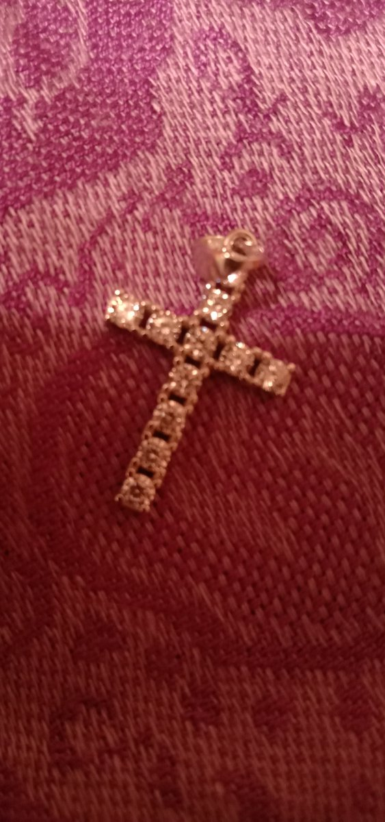 Серебряный крестик с фианитами