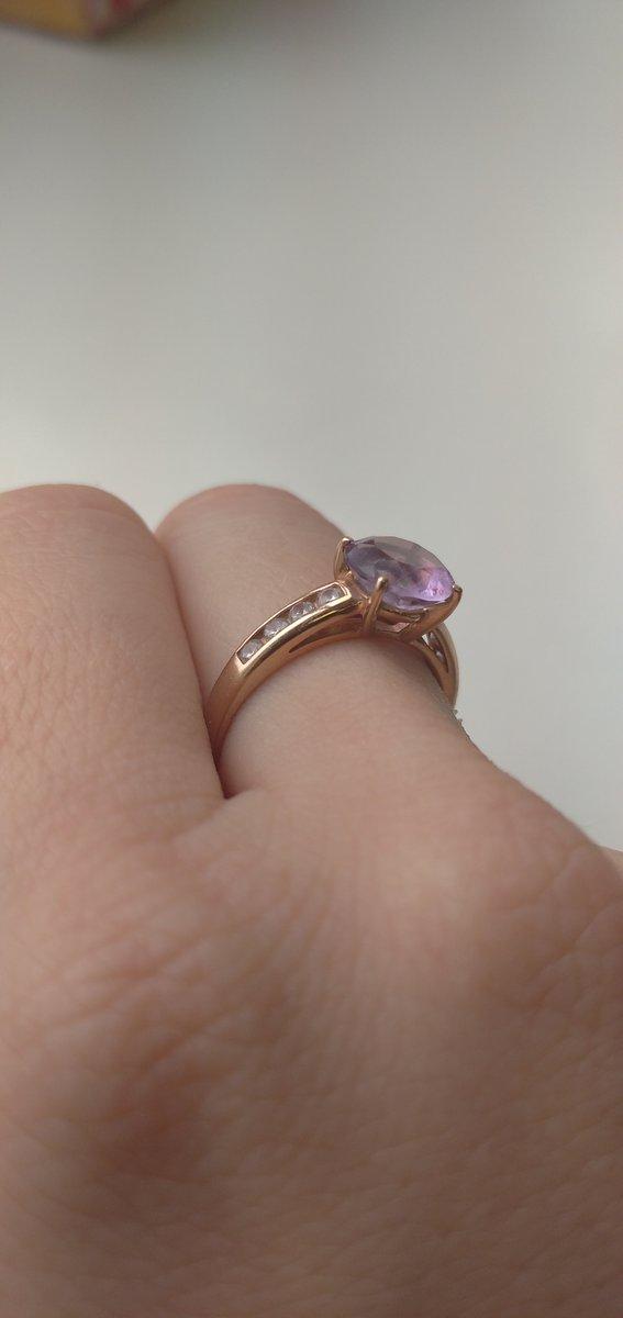 Кольцо с амитистом