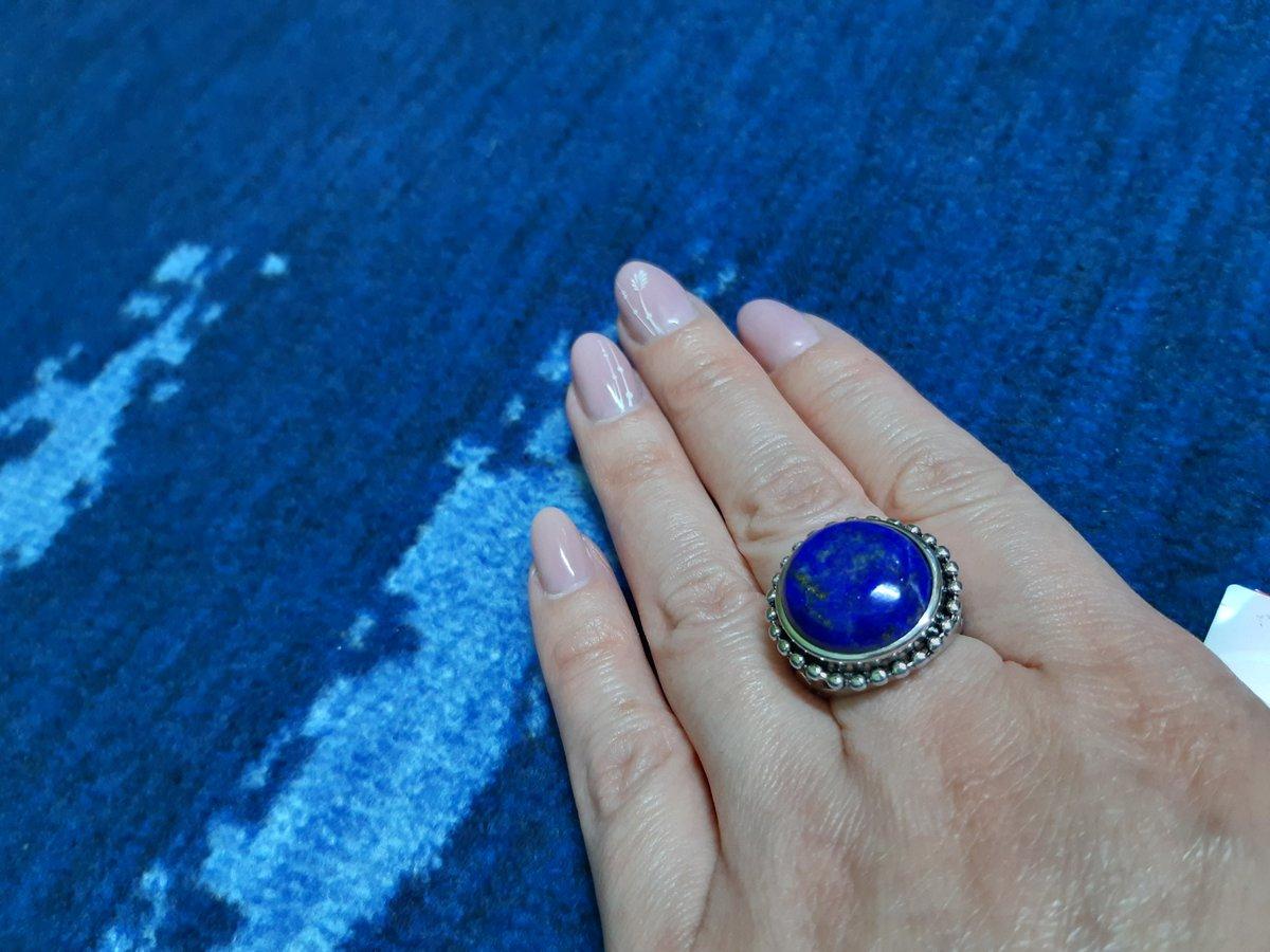 Кольцо с лазуритом