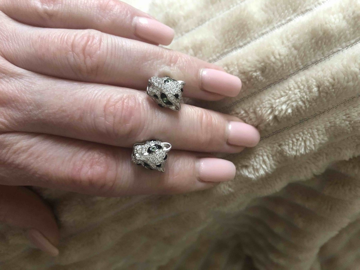 Серебряные серьги-тигры