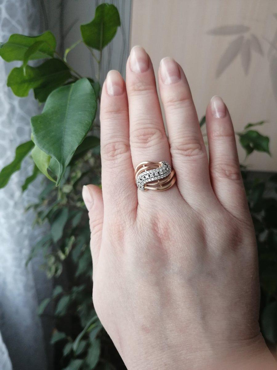 Позолоченое кольцо. просто, но со вкусом.