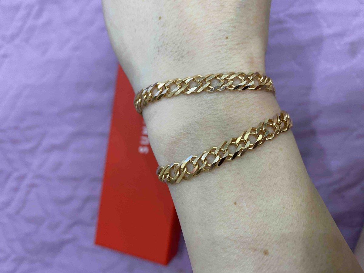 Золотая цепь плетение ромб