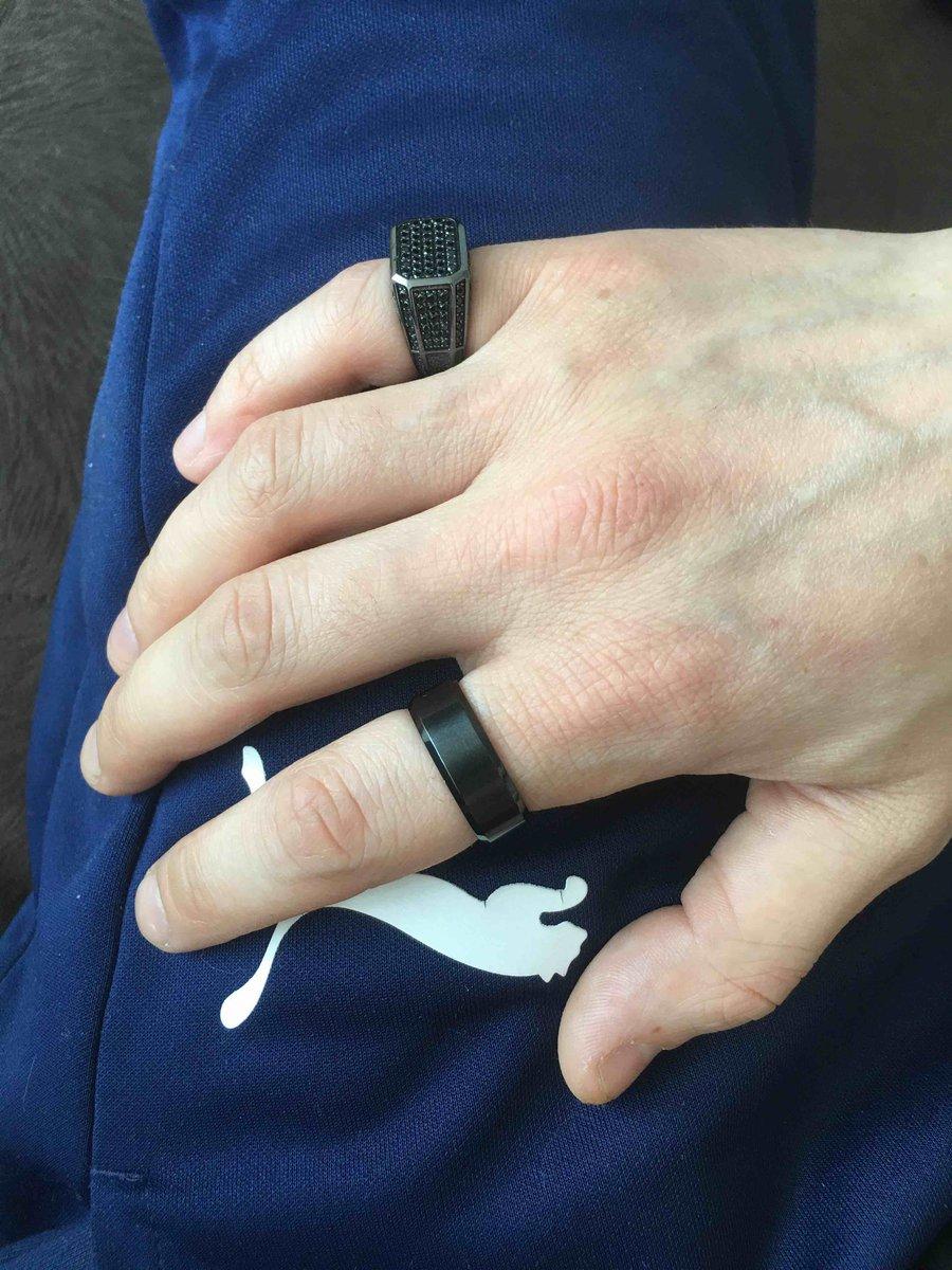 Кольцо чёрное-матовое