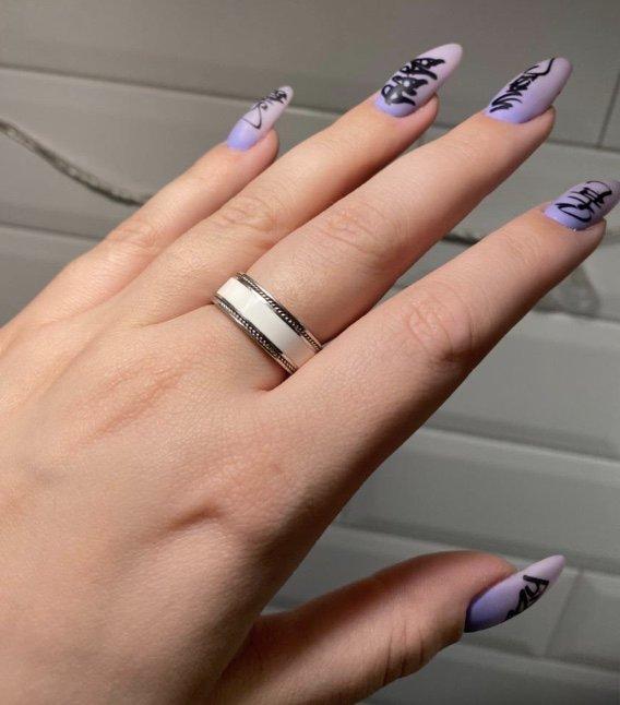 Кольцо-реплика с эмаалью